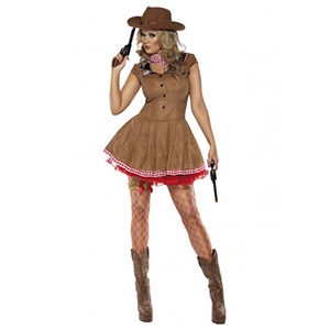 Cowgirl and Indians